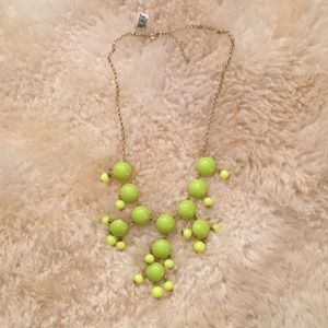 NWT Lime Green/Yellow Bubble Necklace
